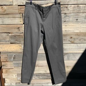 🌻Vince Classic Gray Chino Tapered Leg Mid-Rise Pants Size 8
